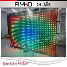 P9 2×3 м RGB новый продукт полноцветный телепередачи мягкий гибкий СВЕТОДИОДНЫЙ экран занавес SD контроллер системы