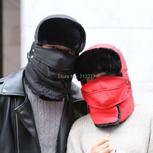 DT508 NEW Hot Winter Hat for Men Women Fashion Bomber Hat Warm Russian Hat Outdoor Mask Trapper Bomber Hat Lovers Riding Ski Cap