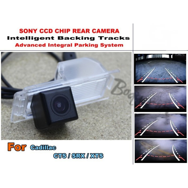 For Cadillac CTS SRX XTS Intelligent Car Parking Camera with Tracks Module Rear Camera CCD Night