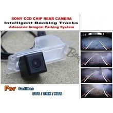 Para Cadillac CTS/SRX/XTS Inteligente Cámara Del Estacionamiento Del Coche/con Pistas de Módulo de Cámara CCD de visión Nocturna de Visión Trasera