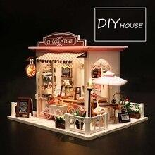 Кукольный дом мебель миниатюрный кукольный домик DIY миниатюрный дом комната коробка театр игрушки для детей наклейки DIY кукольный домик