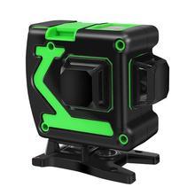 Высокая точность 12 линий 3D уровень самонивелирующийся Зеленый Инфракрасный лазерный уровень