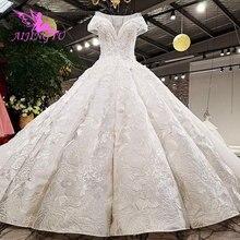 AIJINGYU الملكة فستان الزفاف الأعلى مثير اللؤلؤ محلات الخطوبة نباتي الزواج ترتدي الترتر ثوب Aliexpress فساتين الزفاف