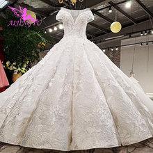 Aijingyu rainha vestido de noiva topo sexy pérola engagement shops vegass casamento usa lantejoulas vestidos de casamento aliexpress