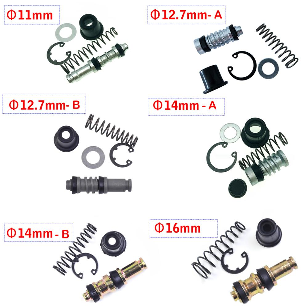 Motorcycle Clutch Brake Pump 11mm 12.7mm 14mm 16mmPiston Plunger Repair Kits Master Cylinder Piston Rigs Repair Accessories 1set