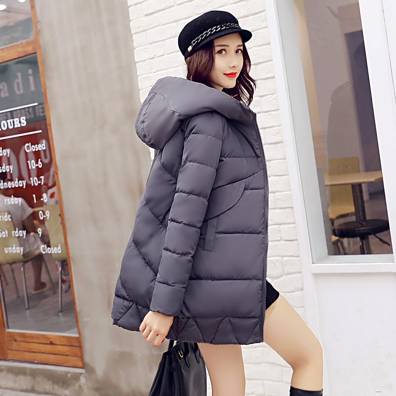 Women's Thick Warm Long Winter Jacket Women Parkas 2017 Hooded Cotton Padded Winter Coat Female Manteau Femme women s thick warm long winter jacket parkas mujer hooded cotton padded coat female manteau femme jassen vrouwen winter mz1954
