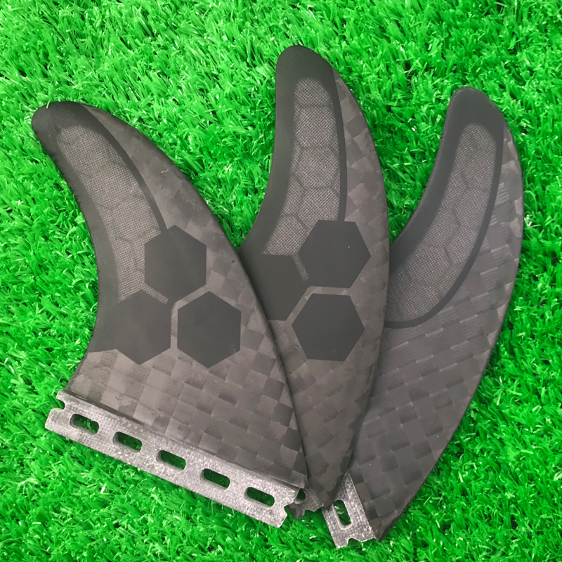Drak Grey Surfboard Future Thruster Fins Semi Carbon Surf Fins For Surfing