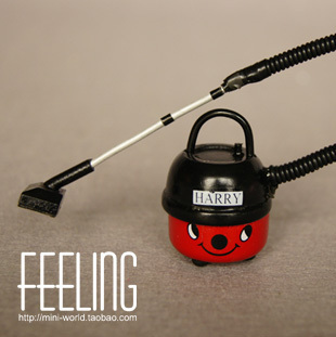 1: 6 1:12 Cute MINI Dollhouse Miniature home decoration household appliances, vacuum cleaner