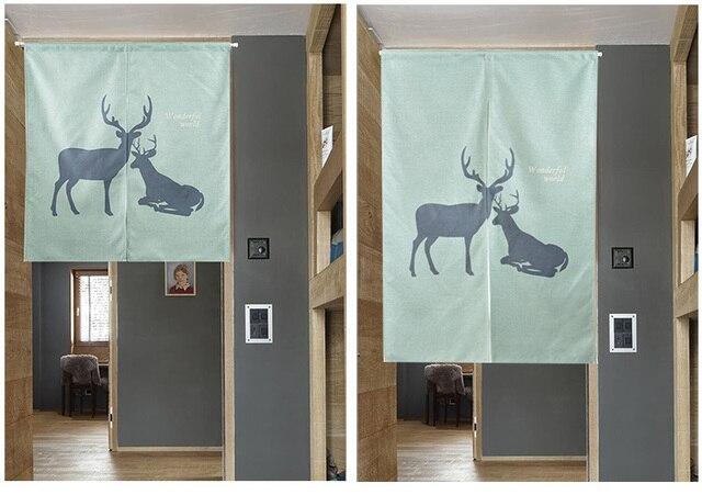 Nordic shading deer door window screen hanging curtain home decoration bedroom living study room kitchen cafe & Nordic shading deer door window screen hanging curtain home ...