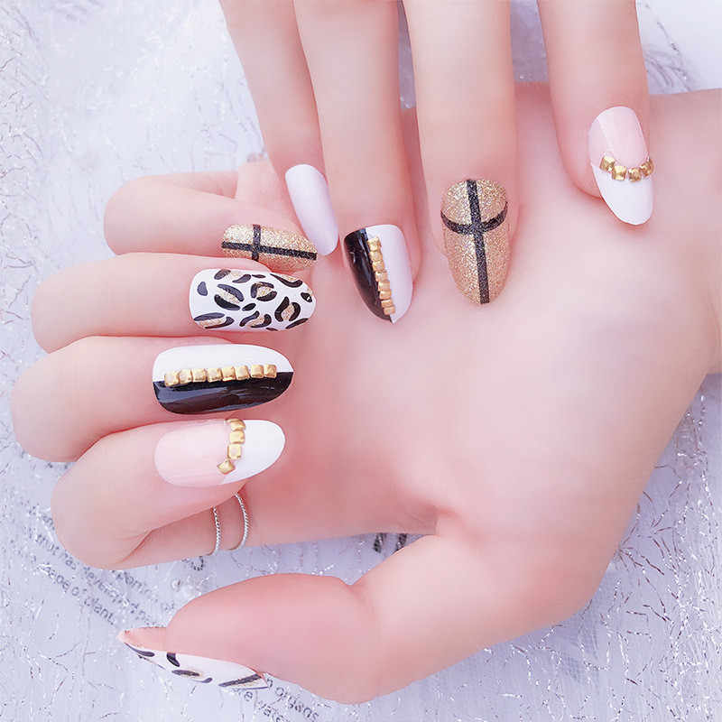 1 Sheet Leopard Animal 3D Nail Art Stickers Self-adhesive Decals DIY Nail  Designs Japanese Nail Accessoires for Nail Decorations