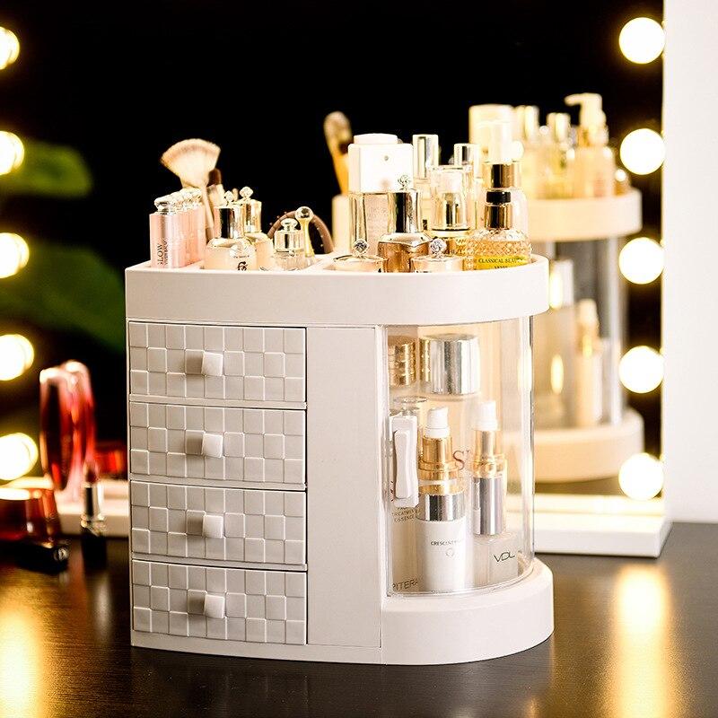 Organisateur de maquillage cosmétique tiroir maquillage boîte de rangement conteneur clou cercueil titulaire de bureau divers mallette de rangement outils de perles