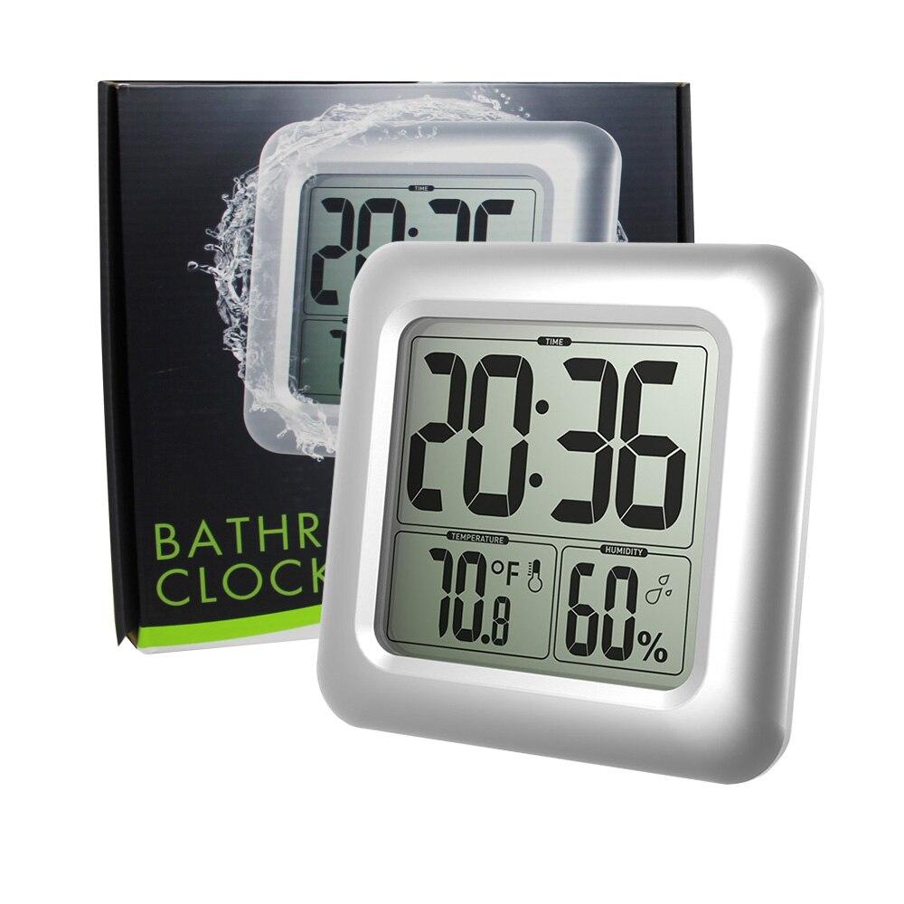 Baldr Numérique Horloge Murale Ventouse étanche Cuisine Salle De Bain  Température Humidité Capteur Temps Montre Horloge De Douche Dans Horloges  Murales De ...