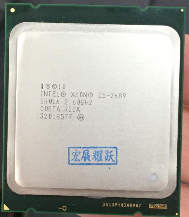 Processeur Intel Xeon E5-2689 E5 2689 CPU 2.6 LGA 2011 SROL6 processeur d'ordinateur de bureau huit cœurs CPU 100% travail normal
