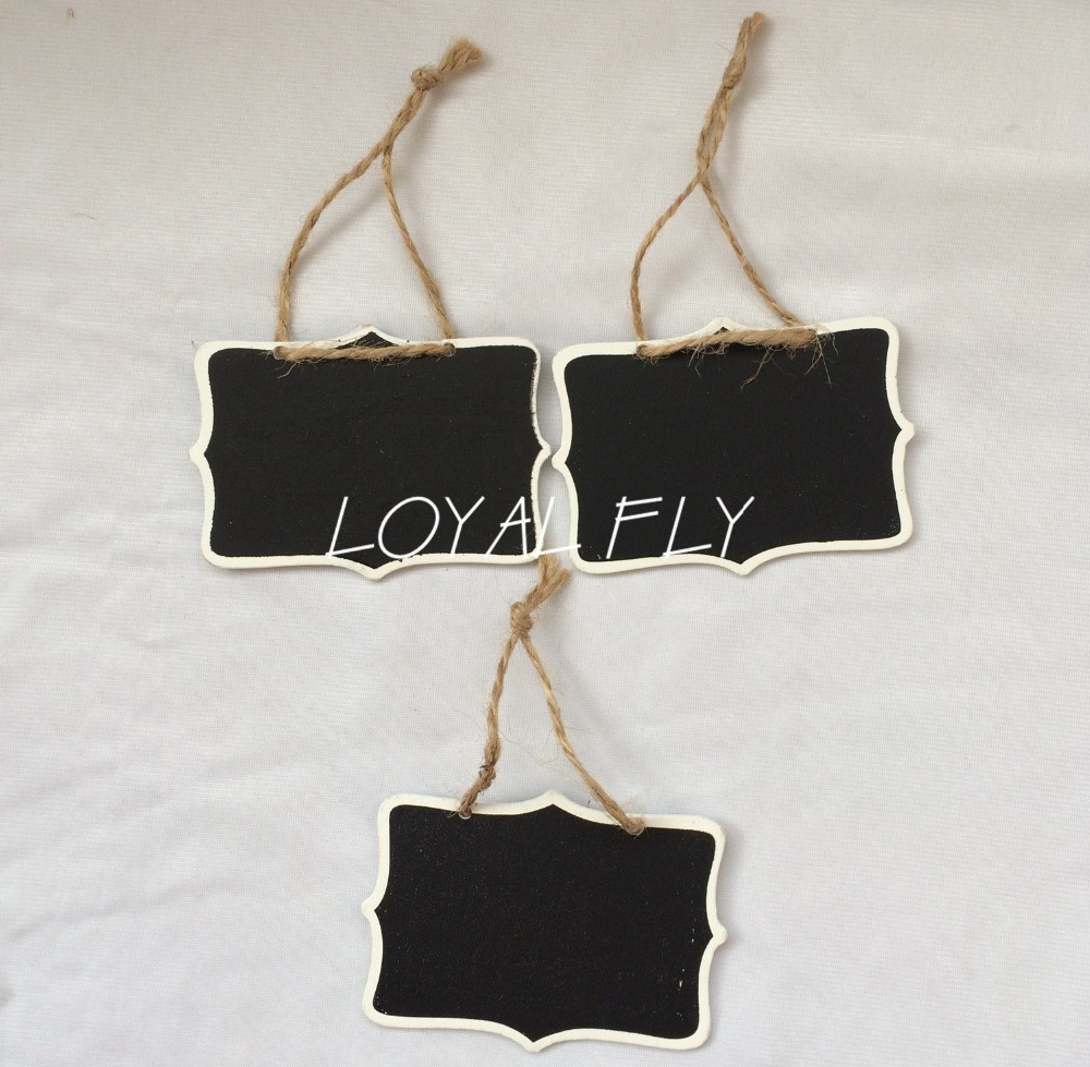 100PCS/LOT Mini Chalkboard Hanging Tag -Chair signage - Wedding sign - Table Number - Chalkboard and twine -Name Tag