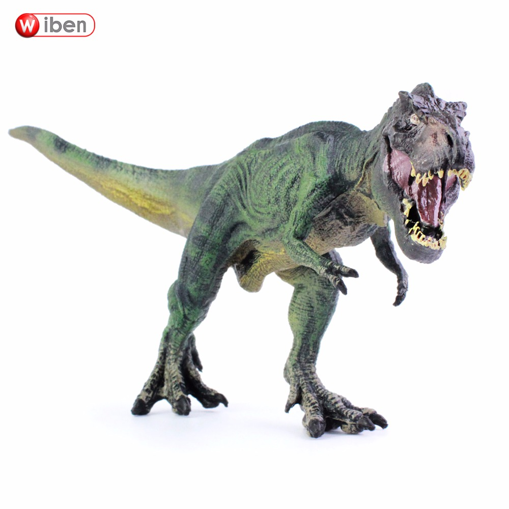 Wiben Jurassic Tyrannosaurus Rex T-Rex Dinosaur Toys Animal Model Action & Toy Figures Kids Education Toy Gifts for boy wiben 3pcs jurassic triceratops tyrannosaurus rex parasaurolophus cub model dinosaur toys action toy figures collection gift