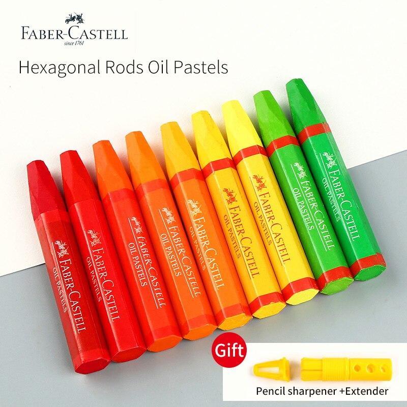 Faber-Castell Artist 36/48Colors Oil Pastels Set Hexagonal Shape Washable Oil Pastel Crayon Sticks Set School Stationery