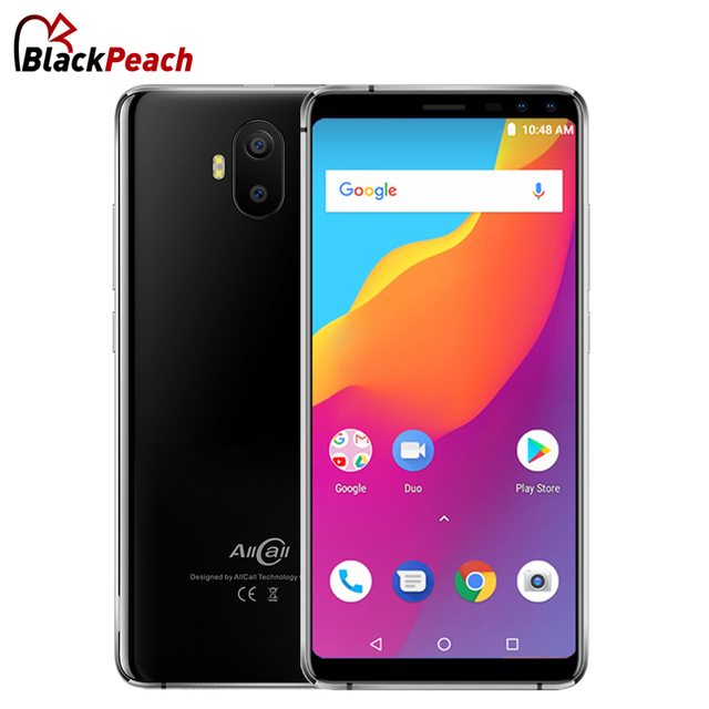 "AllCall S1 5.5"" 18:9 Mobile Phone Android 8.1 MTK6580A Quad Core 2GB RAM 16GB ROM 8MP+2MP Cameras 5000mAh Battery Smartphone"