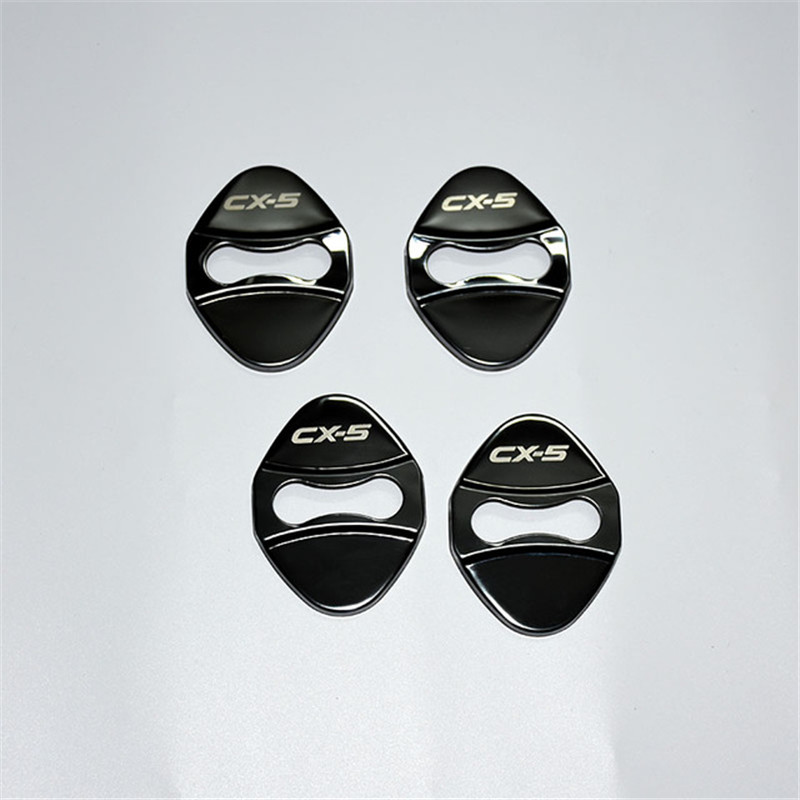 Car-Styling Door Lock Cover Case For <font><b>Mazda</b></font> CX-5 <font><b>CX5</b></font> <font><b>2017</b></font> 2018 Car Covers Car Styling <font><b>Accessories</b></font> 4PCS/SET image