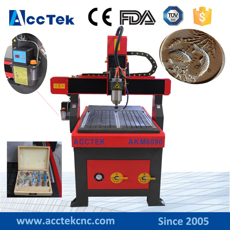 Vacuum table 6090 1.5kw spindle motor cnc milling machine wood working mini cnc router rtm 6090 with t slot vacuum table