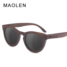 MAOLEN Bamboo Sunglasses Women 2017 fashion Polarized Sunglass popular New design Wooden Sun Glasses for free shipping Eyewear