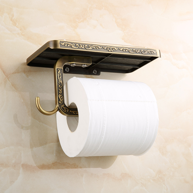 Antique Toilet Paper Holder Frame With A Mobile Phone Holder Tissue Case  Roll Stand Bathroom Accessories Sets in Bathroom Accessories Sets from Home. Antique Toilet Paper Holder Frame With A Mobile Phone Holder