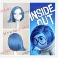 FREE SHIPPING  New Movie Inside Out Disgust Sadness Short  Blue Cosplay Wig Wholesale Hot