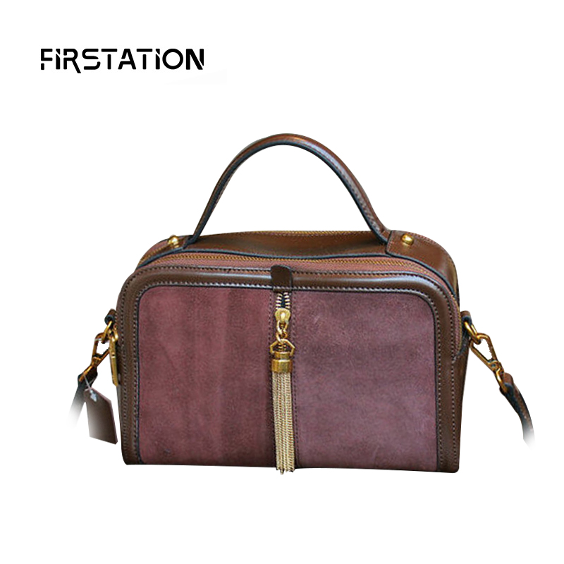 ФОТО High Quality Women Shoulder Bags Genuine Leather Tote Bags Femal Tassel Messenger Women Crossbody Bags Female Handbag Sac Wm0533