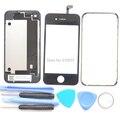 Новый 4 Г Заднее Стекло Задняя Крышка Корпуса Корпус Передняя стекло Ближний Рамка Рамка Замена Запчастей для iPhone 4 4 S + Инструменты