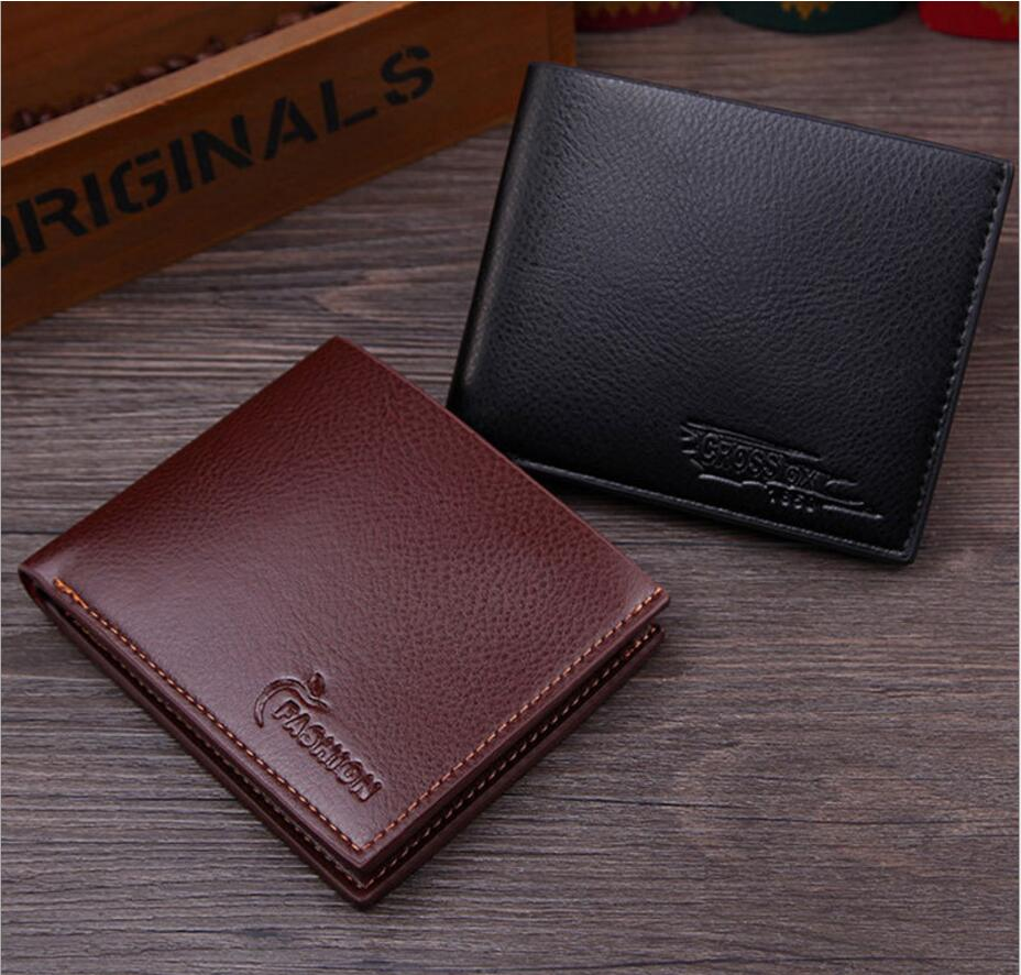 MEN Wallet Carteira Masculina Portfel Billetera Monedero Hombre Monnaie Homme Pu Portfel Portomonee Mens Purses Small Wallets