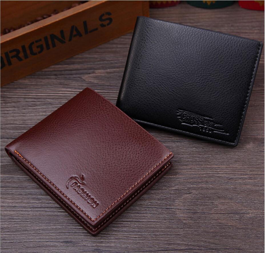 MEN Wallet Carteira Masculina Portfel Billetera Monedero Hombre Monnaie Homme Pu Portfel Portomonee Mens Purses Small Wallets