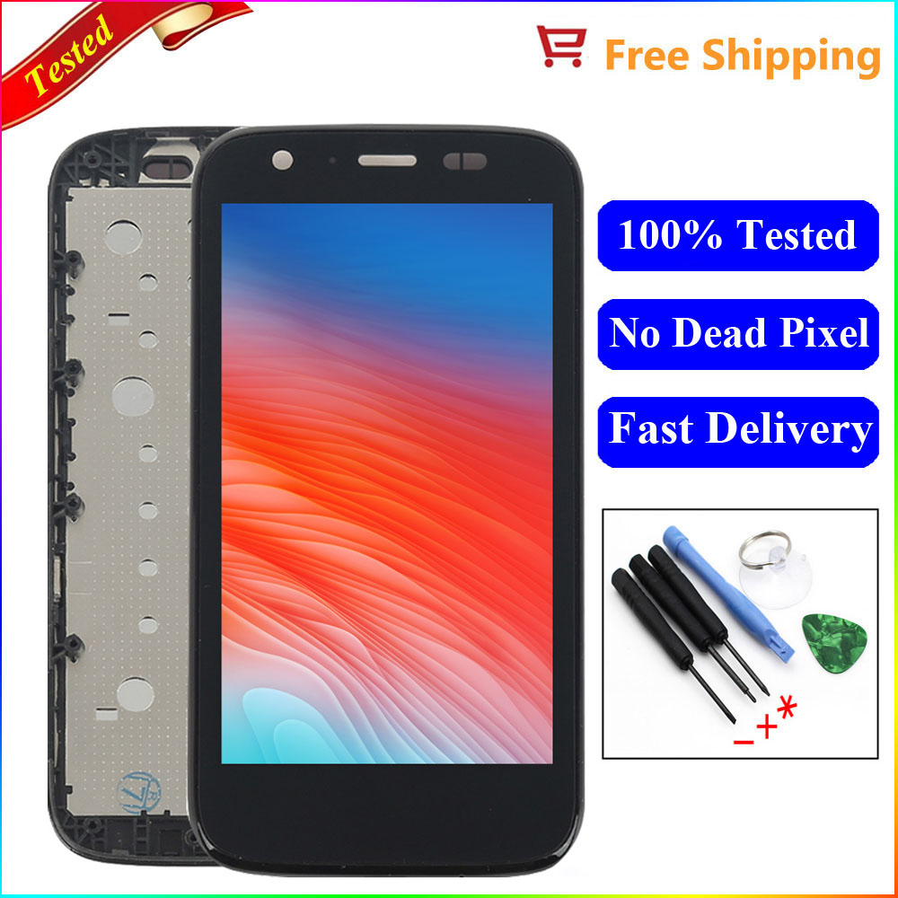 For Motorola MOTO G XT1032 XT1033 LCD Display Touch Screen with Bezel Frame Digitizer Assembly Replacements Parts