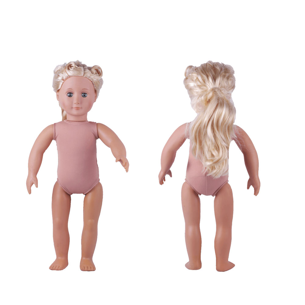 ZWSISU 18inch Blonde/Brown Hair 45cm Girl Doll Realistic Baby Toys Birthday Gift for Girls As American Girl Dolls [mmmaww] christmas costume clothes for 18 45cm american girl doll santa sets with hat for alexander doll baby girl gift toy