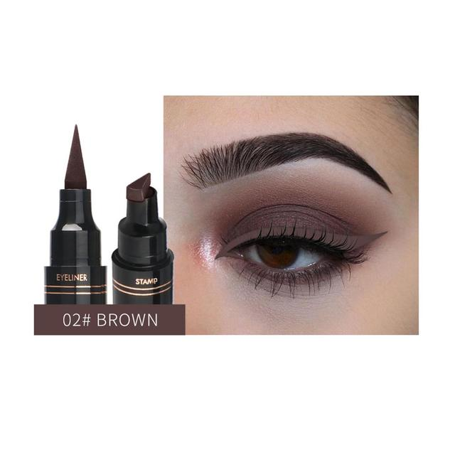 1Pc Liquid Eyeliner Stamp Pen Matte Black Colorful Lazy Eyes Make Up Waterproof Quick Dry Blue Green Red Yellow Eye Liner Pencil 4