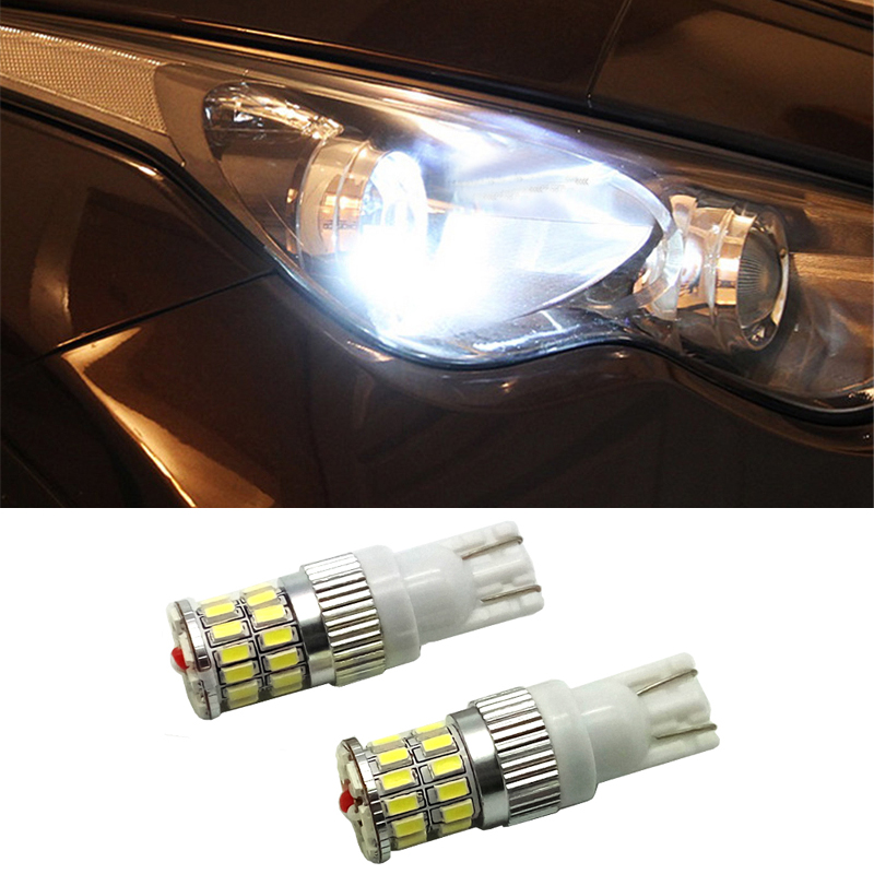 10pcs Lowest Price T10 3014 SMD 36 LED Canbus NO Error White Amber Car Interior For AUDI A3 A4 A5 A6 A7 A8 R8 Q5 Q7 TT S line