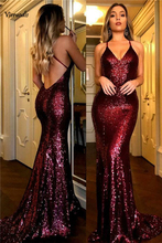 Red wine Long Mermaid Prom Dress Formal Party Gown evening Dresses Custom Made
