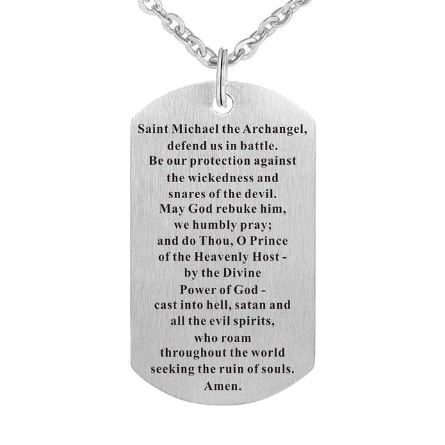 Stainless steel roman catholic jewelry saint michael chain pendant stainless steel roman catholic jewelry saint michael chain pendant necklace tag aloadofball Images