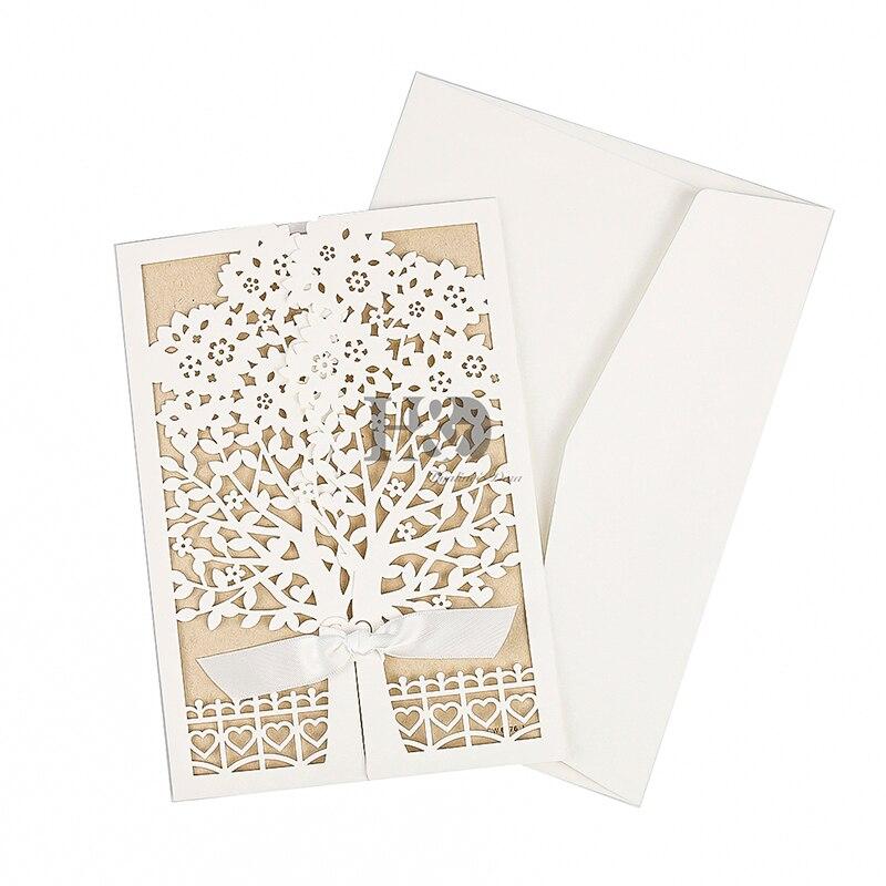 Laser Cut Tree Wedding Invitations: Aliexpress.com : Buy H&D Rustic Laser Cut Tree Wedding