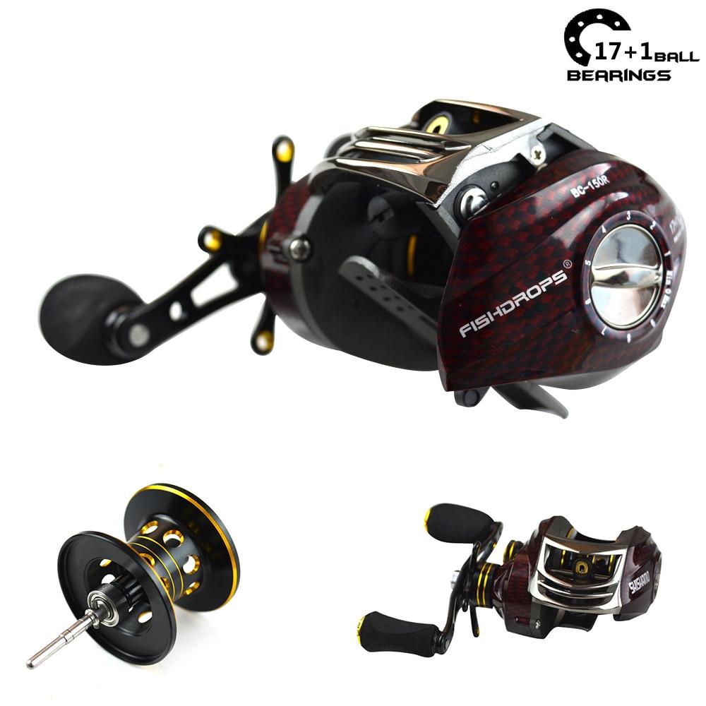 Shishamo 17 1bb 6 3 1 low profile reel bait casting feeder for Fish drops reels