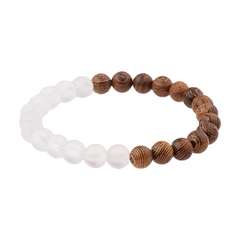 Elastic Natural Wood Beads Bracelet Bracelets Jewelry New Arrivals Women Jewelry Metal Color: 005-B1