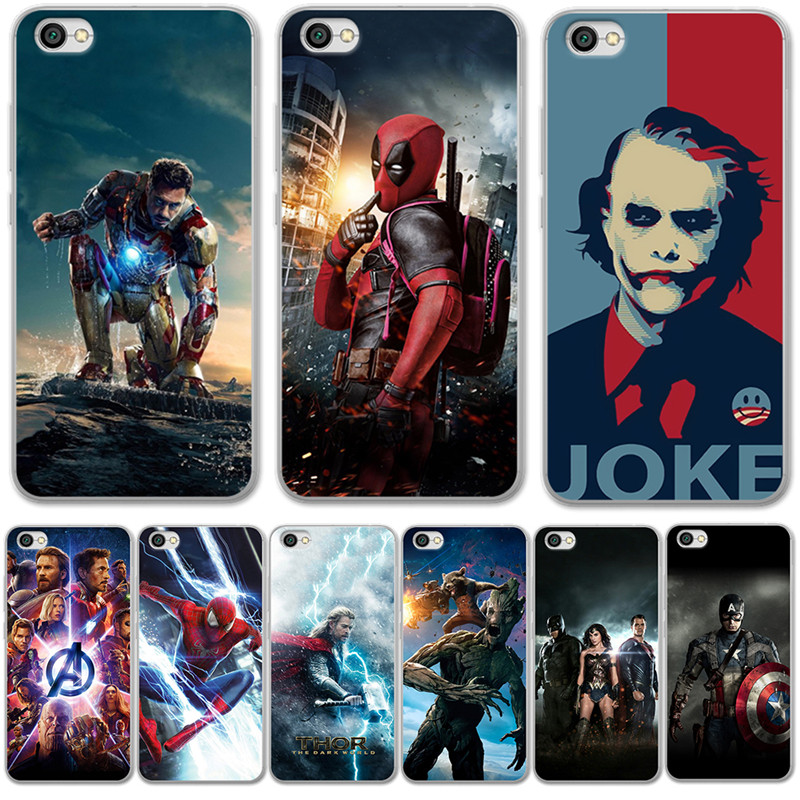 Luxury Joker Marvel Avengers For <font><b>xiaomi</b></font> Redmi <font><b>Mi</b></font> 8 6 <font><b>A2</b></font> Lite 5X 6X A1 6A 4X 4A 5 Plus Note 4 5A Prime Pro Cover Case Coque Etui image