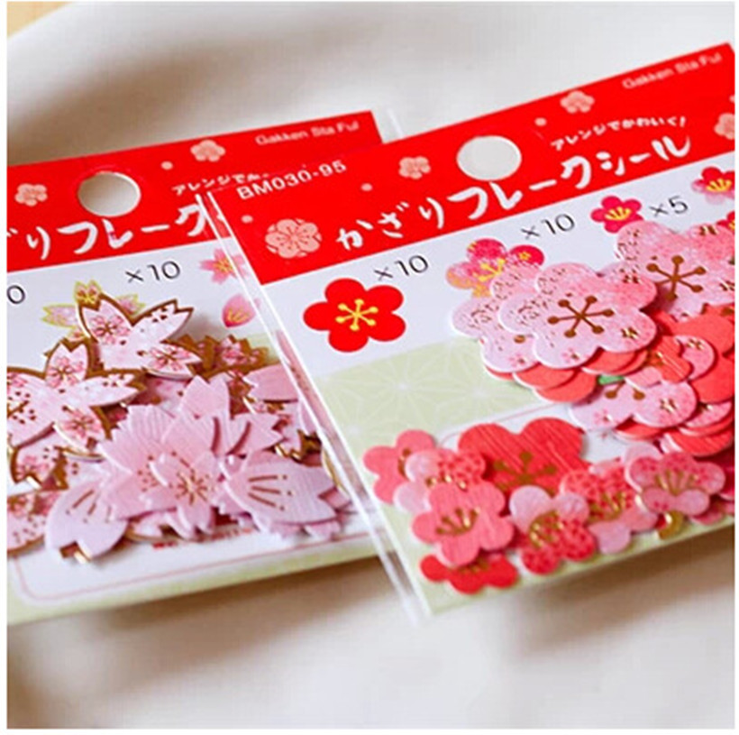 40pcs/pack Plum Blossom Decorative Stationery Stickers Set Scrapbooking DIY Diary Album Stick Label