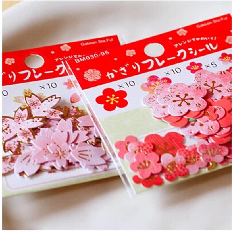 40pcs/pack Plum Blossom Decorative Stationery Stickers Set Scrapbooking DIY Diary Album Stick Label