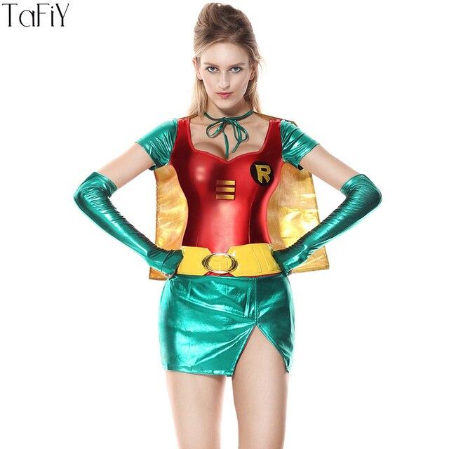 tafiy 2017 femme super hros costumes adulte costume fancy dress outfit halloween super fille superwoman - Super Heros Fille