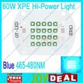Freeshipping!Cree XLamp 60W XPE Blue 465nm~480nm High Power LED Light Lamp DC30-36V 2000mA for aquarium Lighting