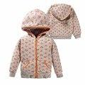 2017 baby girl Primavera Camisolas Do Hoodie jaqueta de Algodão 100% para o bebê meninas Amor roupas de bebê mangas Compridas com capuz Zipper