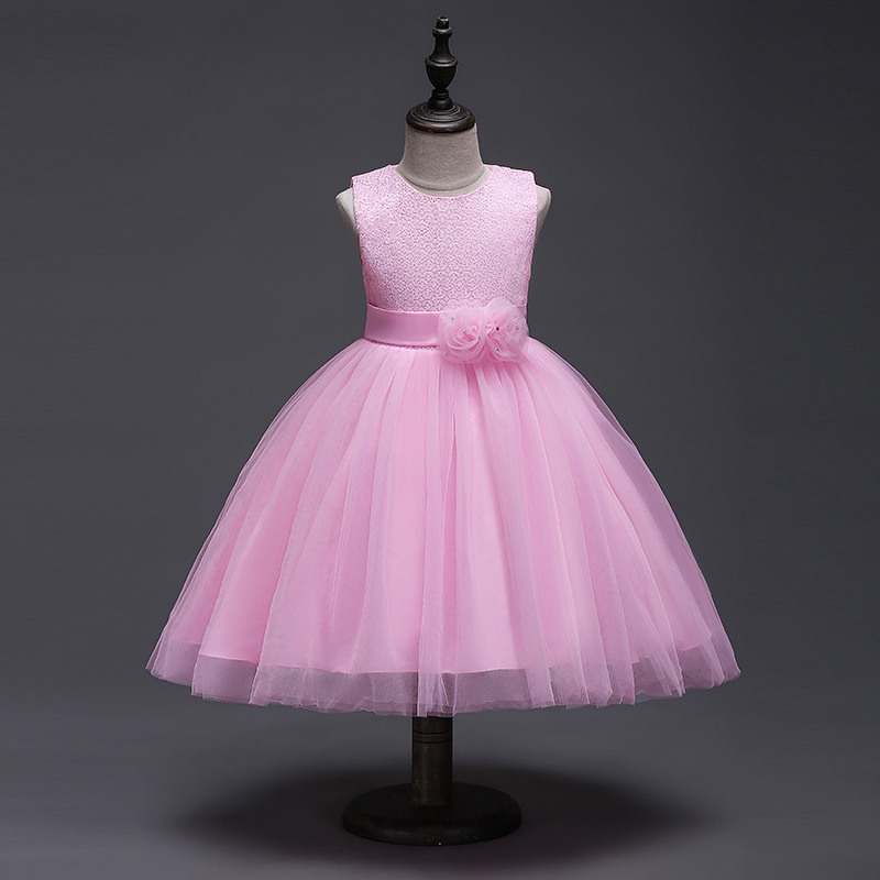 цены New Pattern Children Full Dress Princess Child Lace Dress High Archives European Thick And Disorderly Vest Dress