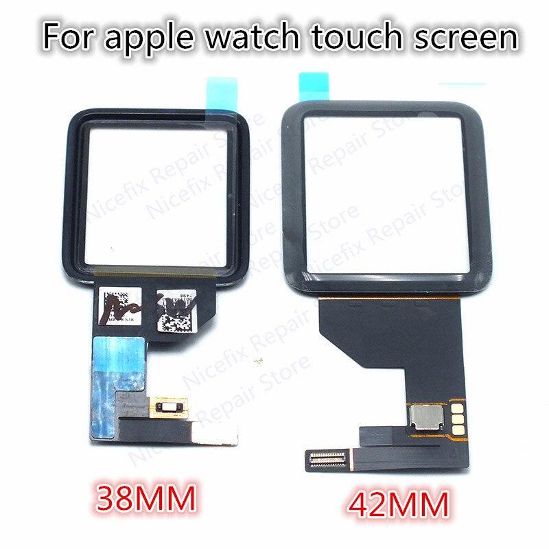 imágenes para Para apple watch 42mm/38mm panel de pantalla táctil digitalizador lente de cristal de zafiro de vidrio ordinario ordinario piezas de repuesto
