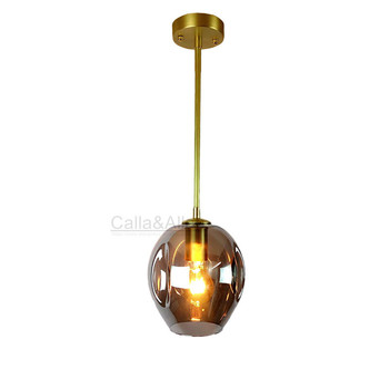 Brass Retro Guard Wire Cafe Loft Droplight Fixture Iron Cage Pendant Light Hanging Fitting Metal Frame copper Lamp decoration