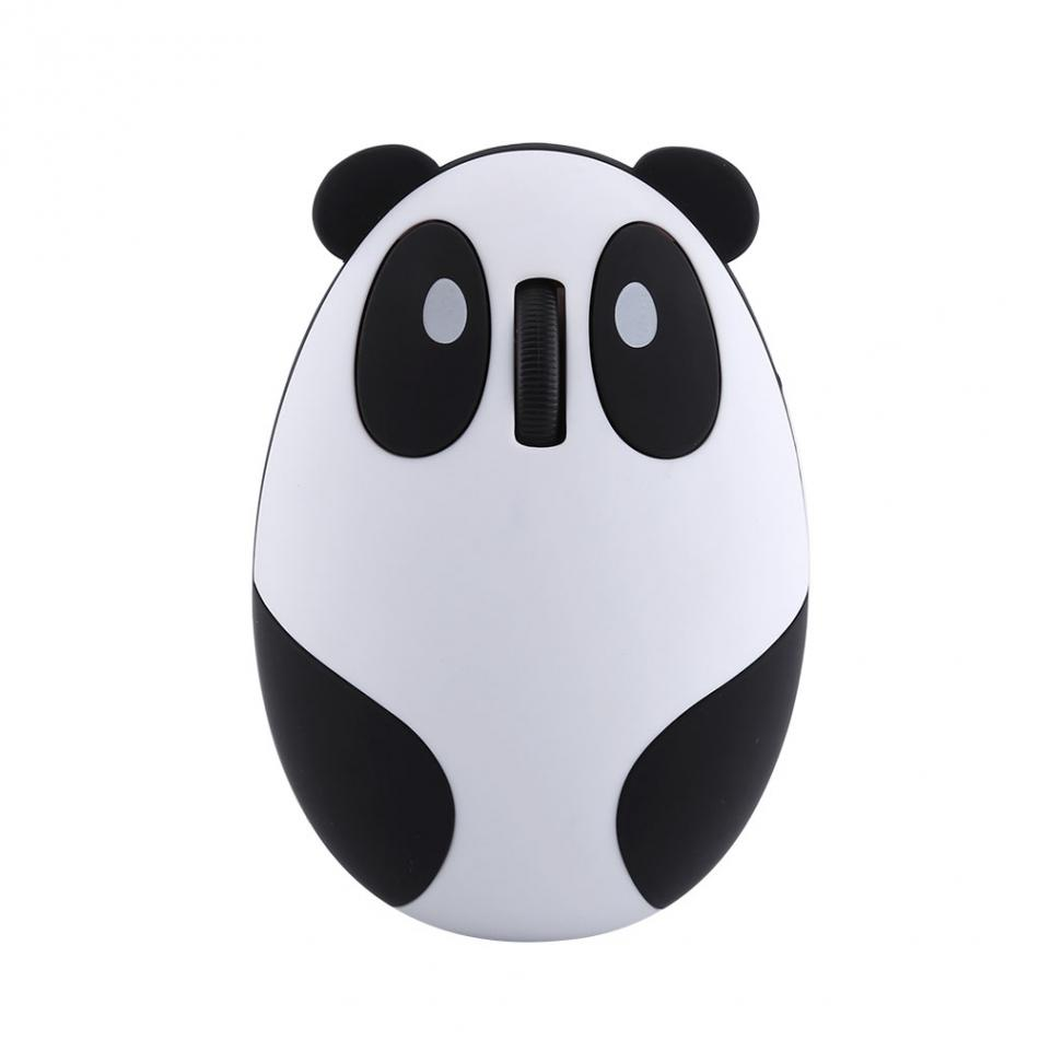 White 2.4GHz Wireless Optical Panda Computer Mouse for Win/Mac/Linux/Andriod/IOS
