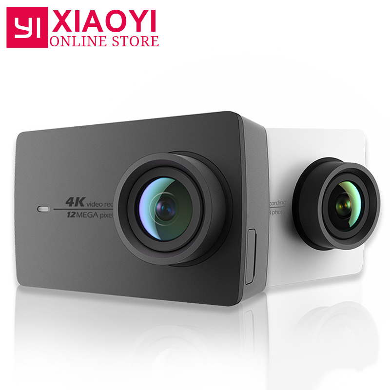 Original Xiaomi YI 4K Action Camera 2 Ambarella A9SE 2.19 155 Degree 12MP Xiaoyi Sports Camera EIS LDC [International Edition] yi 4k action camera international version ambarella a9se cortex a9 arm 12mp cmos 2 19 155 degree eis ldc wifi